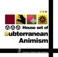 "House set of ""Subterranean Animism"" album cover"